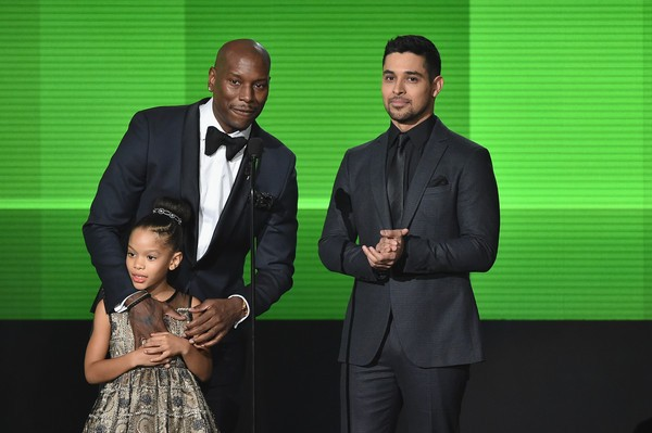 Wilmer Valderrama, Tyrese Gibson with Shayla Somer Gibson