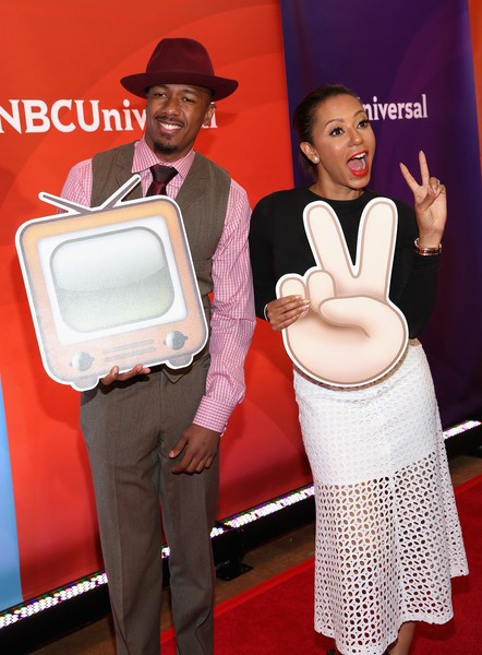 Nick Cannon with Melanie Brown