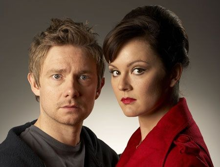 Rachael Stirling with Martin Freeman