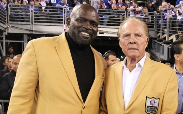 Frank Gifford with Lawrence Taylor