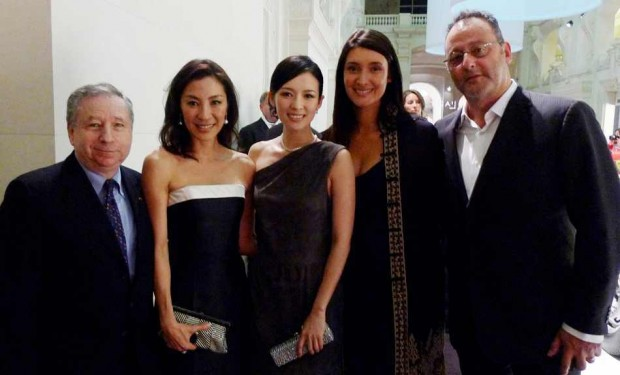 Zhang Ziyi with Jean Todt, Michelle Yeoh and Jean Reno