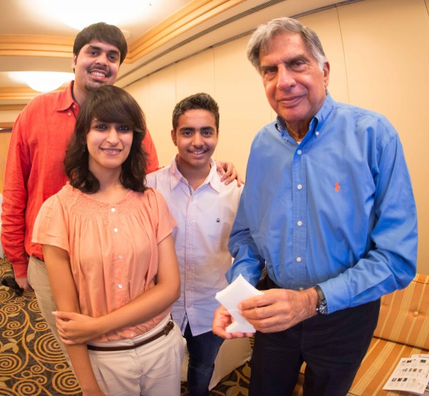 Mr. Ratan Tata with the Kite Fittle