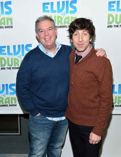 Simon Helberg with Elvis Duran
