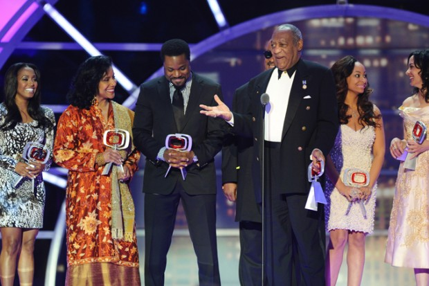 Keshia Knight Puliam with The Cosby Show cast at Tv Land Awards in New York 2011