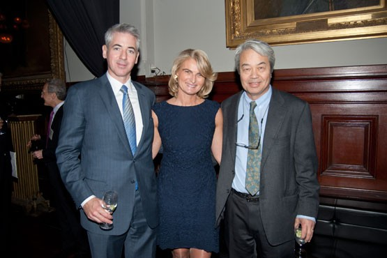 Bill Ackman with Olivia Flatto and Moses Chao