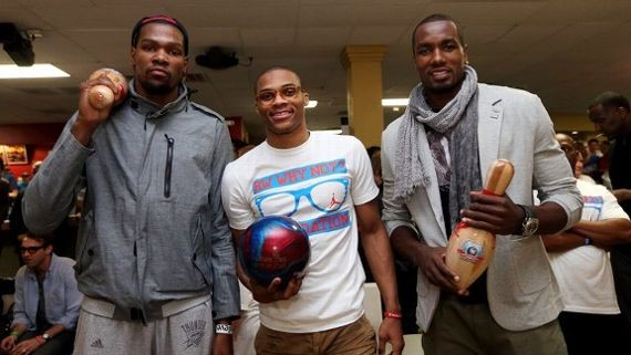 Russell Westbrook Playing Bowling