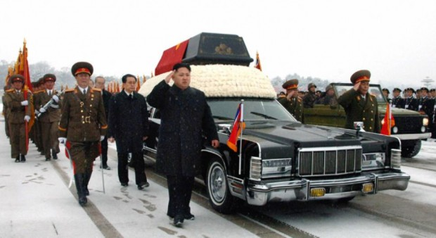 Kim Jong-un in his father Kim Jong il Funeral Procession