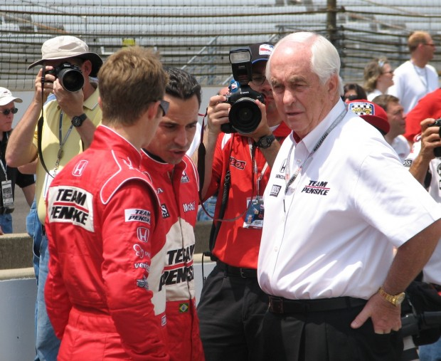 Roger Penske with his team Racers