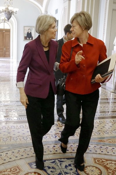 Tammy Baldwin and Elizabeth Warren