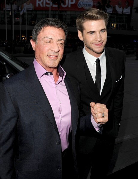 Liam Hemsworth with Sylvester Stallone