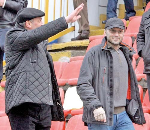 Suleiman Kerimov watching his team Anzhi Machakhkala Match