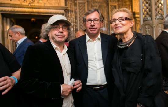 Pyotr Aven with Alex Lachmann and Olga Sviblova