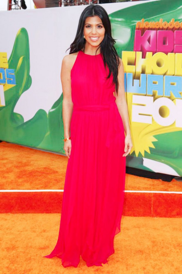 Kourtney Kardashian At Kids Choice Awards