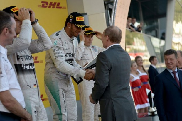 Hamilton Is Congratulated By Vladimir Putin, The President Of Russia