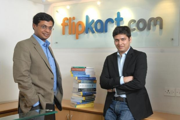 Sachin Bansal and Binny Binsal at Flipkart