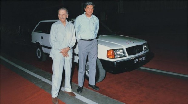 J.R.D. Tata at TATA at the launching of New Vehicle