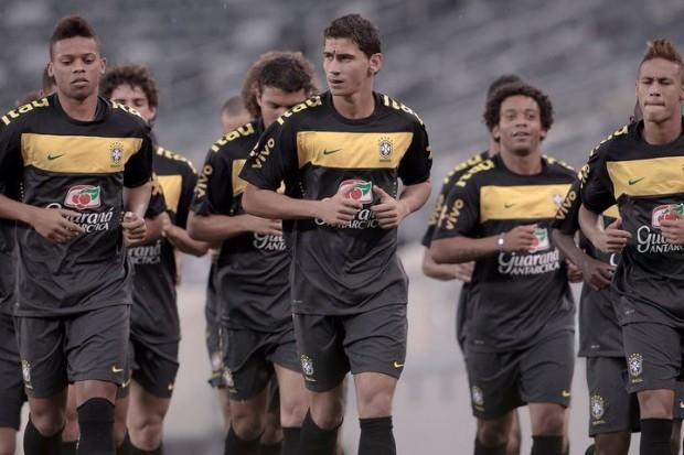 Neymar with Brazil Team
