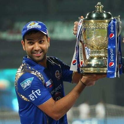 Rohit Sharma With IPL Trophy