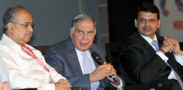 Dilip Shanghvi with Rata Tata