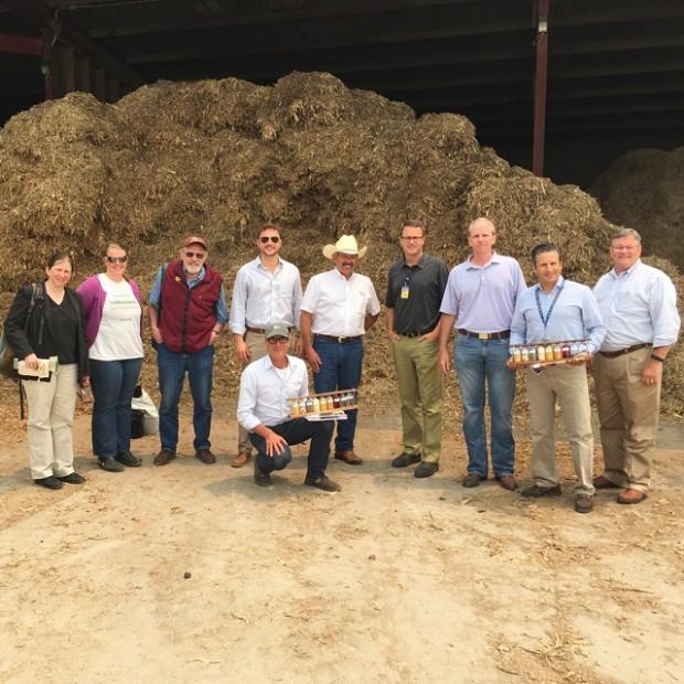 McMillon and Walmart Executives at a Farm