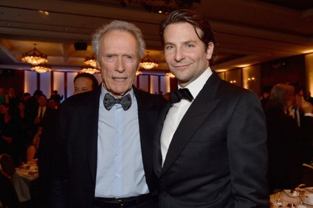 Clint Eastwood and Bradley Cooper at a Party