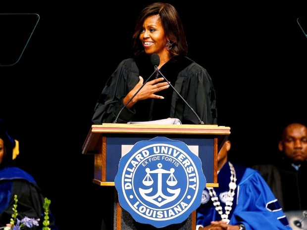 Michelle Obama speaks at the Dillard University