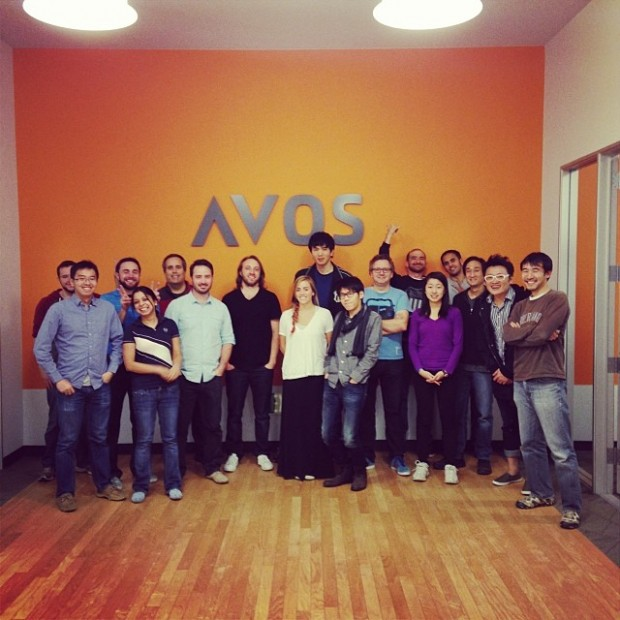 Chad Meredith Hurley with group of people at AVOS