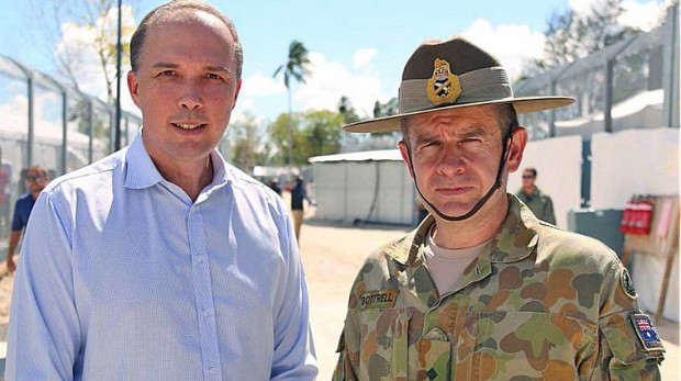Peter Dutton and Major General Andrew Borttell