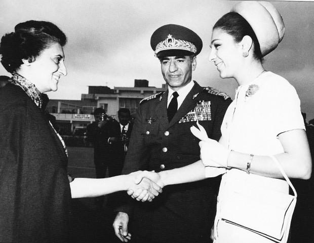 Indira Gandhi with Shah of Iran Mohammad Reza Pahlavi