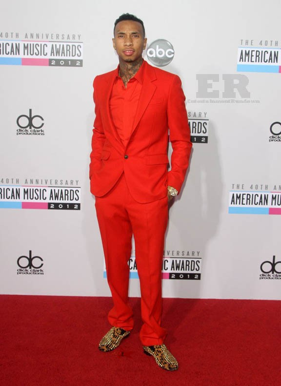Tyga at The 40th Anniversary American Music Awards