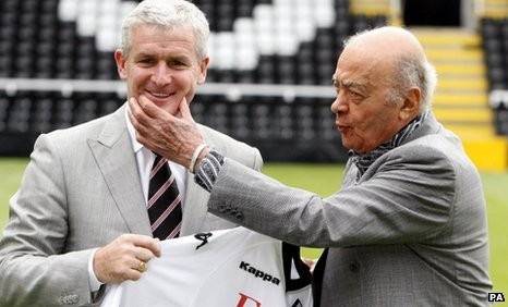 Mohamed Al-Fayed With Mark Hughes