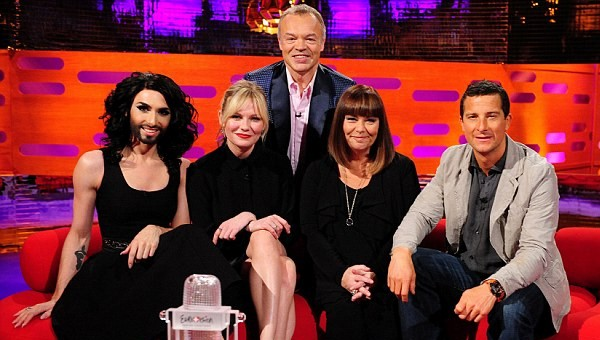 Conchita Wurst, Kirsten Dunst, Graham At Norton Show