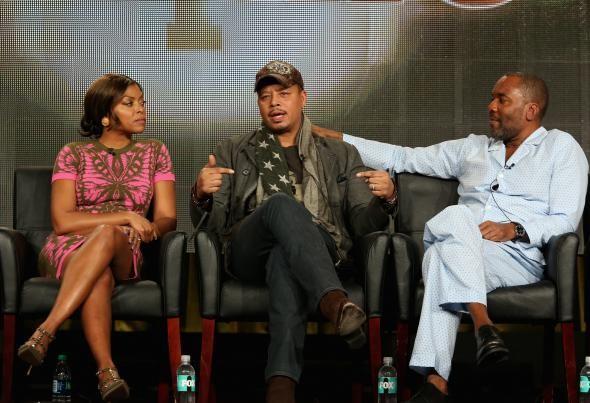Terrence Howard (center) with Empire co-star Taraji P. Henson