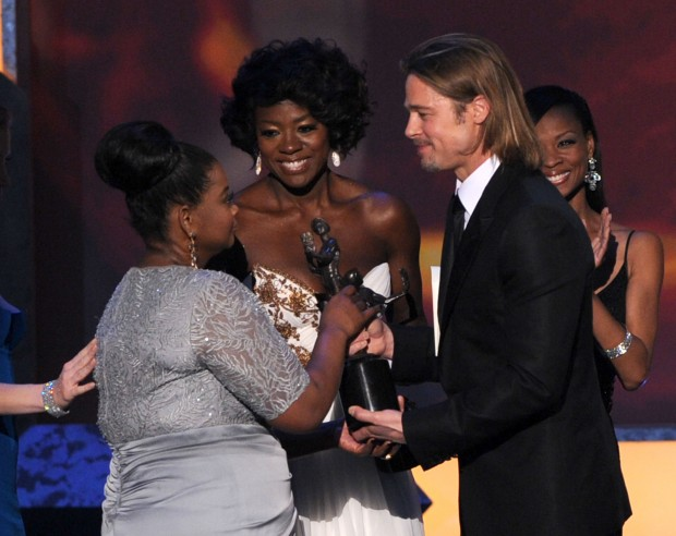 Brad Pitt, Octavia Spencer, and Viola Davis(Middle)