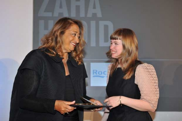 Zaha Hadid Receiving Jane Drew Prize