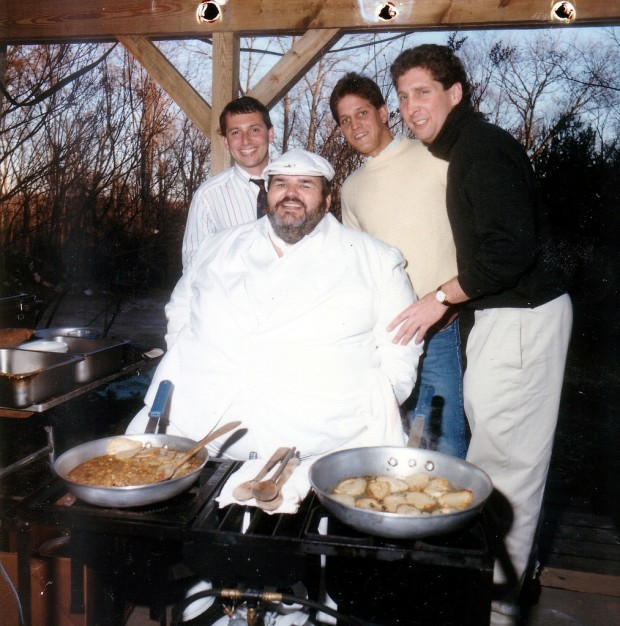 Chef Paul Prudhomme with Carl Lender, Brian Hanson and Larry Jacobs