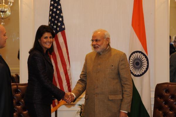 Nikki Haley Meets Narendra Modi