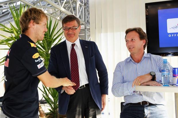 Mario Moretti Polegato with Sebastian Vettel