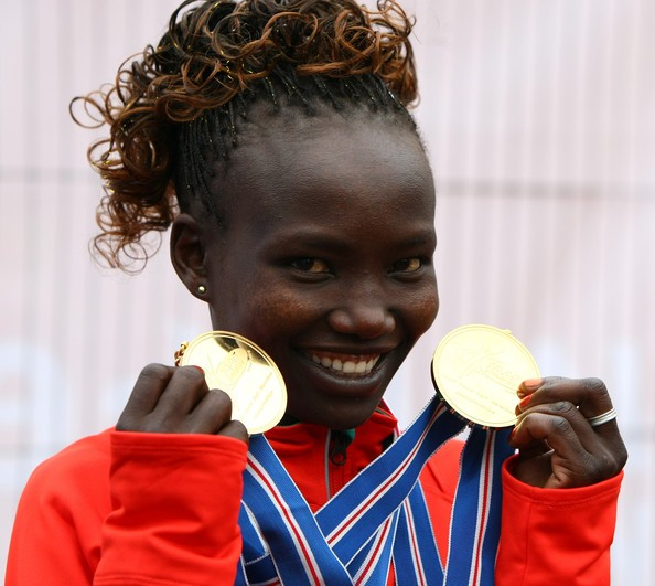 Mary Jepkosgei Keitany With IAAF Medals