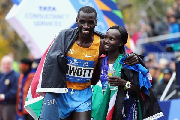 Stanley Biwott With Mary Jepkosgei Keitany