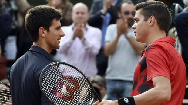 Novak Djokovic meets Milos Raonic in the final of the ATP Paris