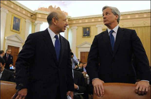 Lloyd Blankfein With Jamie Dimon