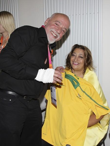 Paulo Coelho At DLDwomen Conference 2010 Zaha Hadid