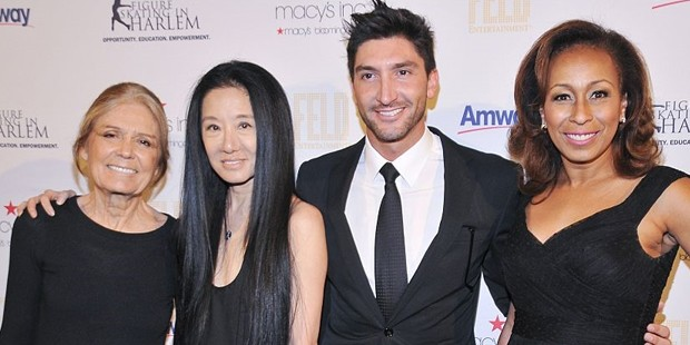 Gloria Steinem, Vera Wang, Evan Lysacek and Tamara Tunie
