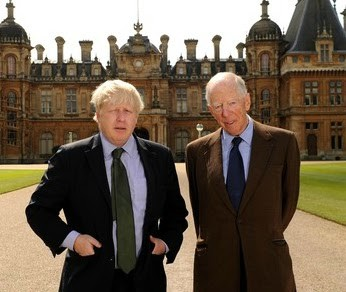 Boris Johnson with Jew Nathaniel Charles Jacob Rothschild