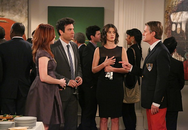 Kyle MacLachlan, Alyson Hannigan, Josh Radnor and Cobie Smulders in How I Met Your Mother (2005)