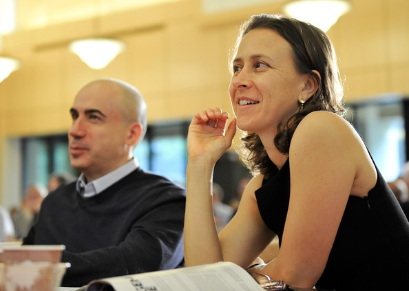 Yuri Miller and Anne Wojcicki listen to the panel of this years prize