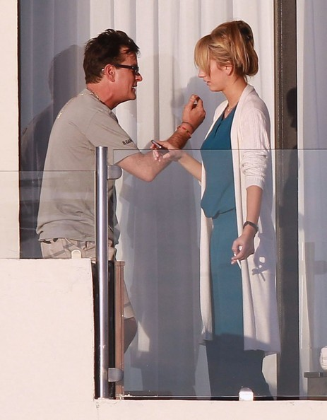 Charlie Sheen Partying with Brett Rossi