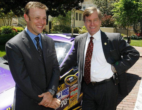 Matt Kenseth with Bob McDonnell
