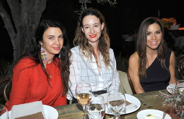 Actress Shiva Rose, Designers Jenni Kayne and Monique Lhuillier attend Feed Supper with Lauren Bush